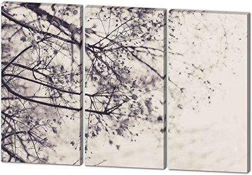 Gestrüpp, schönes und hochwertiges Leinwandbild zum Aufhängen in XXL - 3 Teiler mit 120cm x 80cm, echter Holzrahmen, effektiver Pigmentdruck, modernes Design für Ihr Büro oder Zimmer