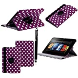 "FOR AMAZON KINDLE FIRE HD 7"" VARIOUS PU LEATHER WITH SLEEP/WAKE STANDBY MAGNETIC CASE COVER POUCH + STYLUS BY GSDSTYLEYOURMOBILE (New Butterfly)"