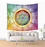 Flor De La Vida Tapices Tapices Personalizados Tapicería Colgante de Pared Manta Alfombra de la Pared Estera de Yoga Decoración para el hogar
