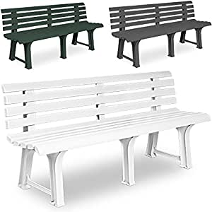 banc de jardin parc terrasse ext rieur gris pvc 145x49x74 cm jardin jardin. Black Bedroom Furniture Sets. Home Design Ideas