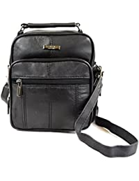 Mens / Ladies Handy Super Soft Nappa Leather Shoulder / Carry Travel / Flight Bag with Detachable Strap