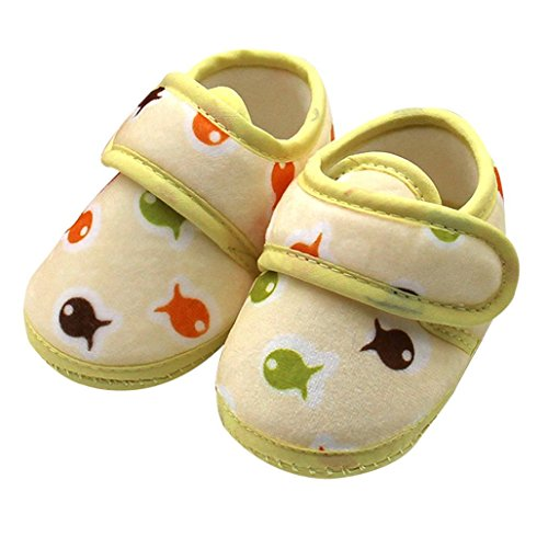 Bebê Lauflernschuhe Neugeborenese Manjedoura Meses Prewalker Peixes Sapatos Único Criança 0 Macio Babyschuhe Amarelo Longra Escorregadia 18 Aquecer Bebê Pressão Hqw4C5n