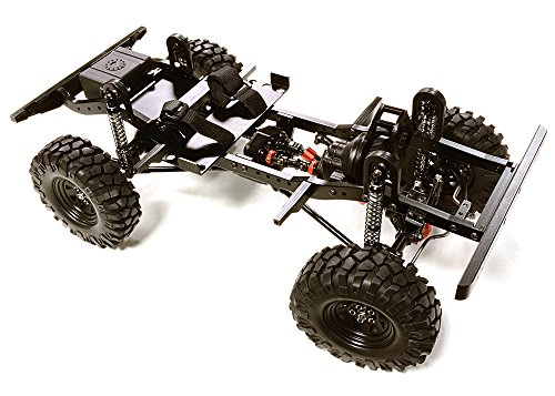Integy RC Model Hop-ups C27376BLACK Billet Machined 1/10 D90 Gen-2 Roller 4WD Off-Road Scale Crawler ARTR Rc Axial Honcho Batterie