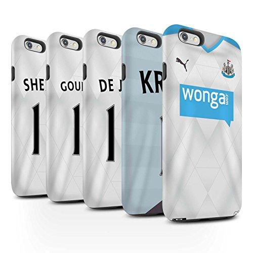 Offiziell Newcastle United FC Hülle / Matte Harten Stoßfest Case für Apple iPhone 6+/Plus 5.5 / Pack 29pcs Muster / NUFC Trikot Away 15/16 Kollektion Pack 29pcs