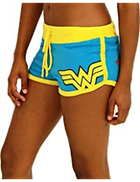 DC Comics Wonder Woman Logo Booty Shorts (Juniors Medium)