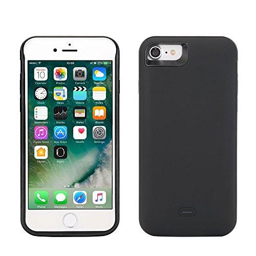 """Funda Batería iphone 7, Lenuo Funda Protectora Cargador con Batería 5200mAh Carcasa Protectora Recargable para iPhone 7 4.7"""", Color Negro"""