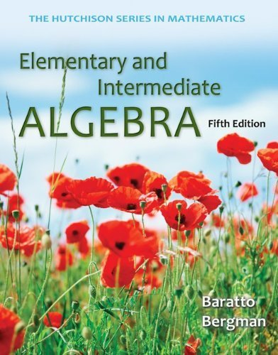 Elementary and Intermediate Algebra w/ ALEKS User Guide & 52 Week Access Code by Stefan Baratto (2013-05-31)
