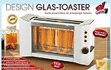 Design Glas Toaster 2-Schlitz Edelstahl 1450W Neu