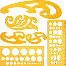 6 Stück Französisch Kurve und Vorlage Lineal Set Zeichnung Vorlage Werkzeug Kreis Vorlagen für Künstlerische Studio oder Persönliche Zeichnung und Ausarbeitung