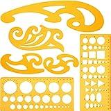 Juego de 6 Piezas de Regla Plantilla y Curva Francesa Herramienta de Plantilla de Dibujo Plantillas de Círculo para Estudio Artístico o Dibujo y Redacción Personal