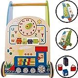 Baby Lauflernwagen / Lauflernhilfe aus HOLZ (Mit vielen Spielmöglichkeiten) 9m+
