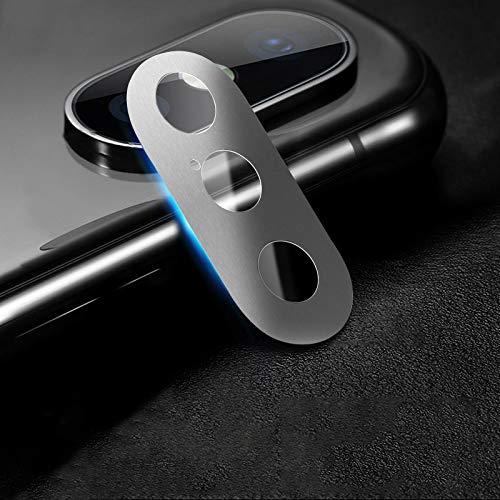 webcam cover, cobertura completa del teléfono móvil del metal de la cámara trasera cubierta protectora del lente, for iphone xs xs/max/x (3 pcs, 10d) (color : silver)