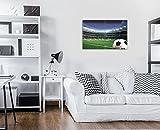 ForWall Leinwandbild Kunstdruck Wandbild - Fußball auf Stadion S10 (120cm. x 80cm. (4x60x40)) Bild Canvas AMFPS20102S10