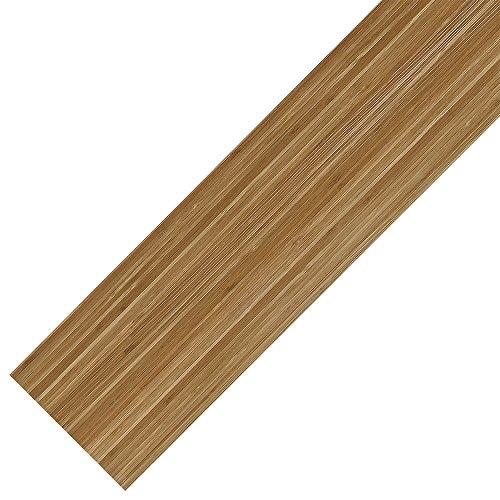 [neu.haus] Vinyl-Laminat Sparpaket (4m²) Selbstklebend Bambus (28 Dekor Dielen = 3,92 qm) Design Bodenbelag / gefühlsecht / strukturiert (Strukturierte Bambus)