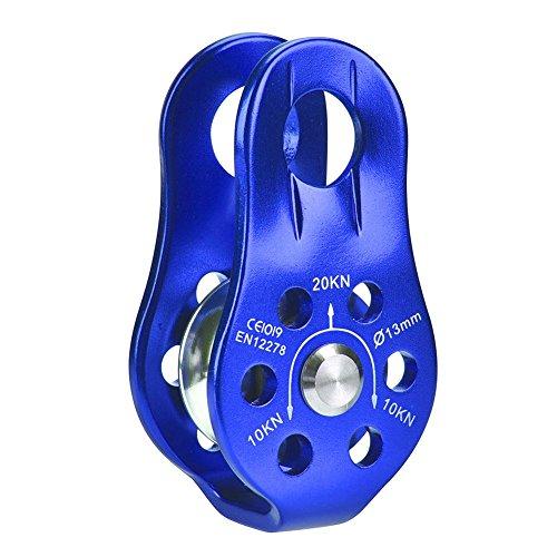 Alomejor Seilrolle mit Drehgelenk, Aluminiumlegierung, strapazierfähig, für Transport, grün