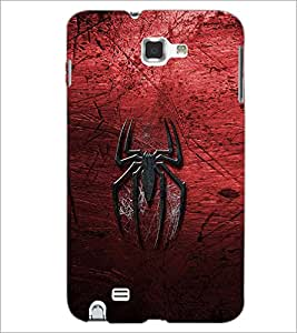 PrintDhaba Spider D-2323 Back Case Cover for SAMSUNG GALAXY NOTE 1 (Multi-Coloured)