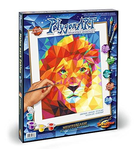Preisvergleich Produktbild Schipper 609460738 Malen nach Zahlen Polygon-Art Löwenkopf, Malset, 40 x 50 cm