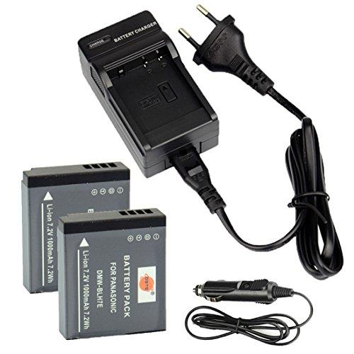DSTE 2-Pieza Repuesto Batería y DC120E Viaje Cargador kit para Pancomoonic DMW-BLH7 Lumix DMC-GM1 DMC-GM1D DMC-GM1K DMC-GM1KD DMC-GM1KEB DMC-GM1KK DMC-GM1KS DMC-GM1KW DMC-GM1S DMC-GM1W DMC-GF7K