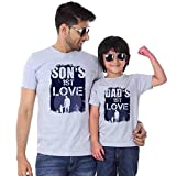 Best Father Tshirt - Bon Organik Grey Melange First Love Father Son Review