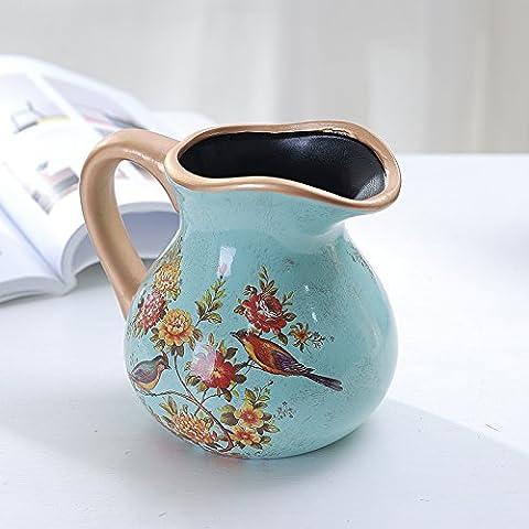 Maivas Décoration Vase en céramique Style européen rétro oreilles–Pot à