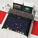Retro Games Bettwäsche-Set für Einzelbett/Doppelbett, wendbar, Multi, Bettbezug für Doppelbett