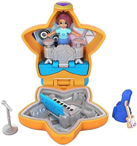 Polly Pocket Muñeca con mini cofre, de concierto (Mattel FRY32)