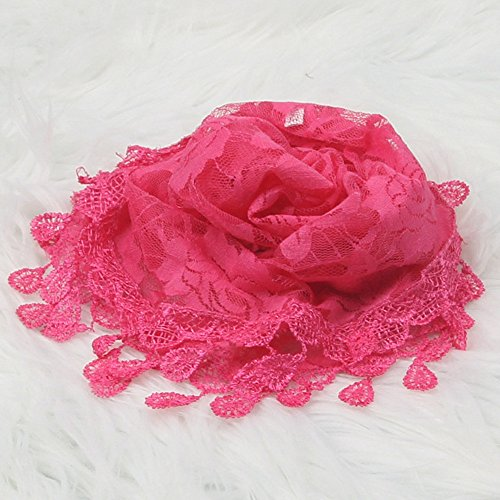 kingko® Baby Lace Shirt Wrapping Material Spitze Geeignet für Baby etwa 0-7 Monate alt Heißes Rosa