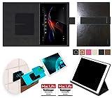 reboon Sony Xperia Z Tablet Hülle Tasche Cover Case Bumper | in Schwarz Leder | Testsieger