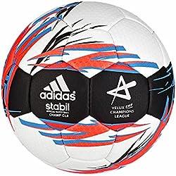 adidas Stabil Champcl8 - Balón de balonmano, color blanco / azul / negro, tamaño 3