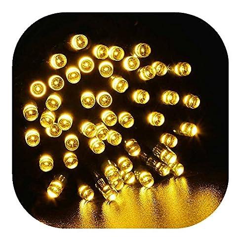 17m 100pcs LED déco Lumières, FEITONG Lampe solaire extérieure fée Chaîne Propulsé Lumière Garden Party de Noël (Jaune)