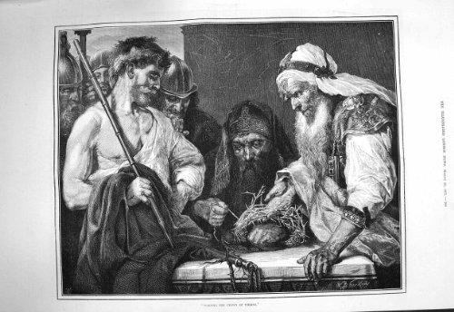 1875 Männer, die Druck der Kronen-Dornen-Schönen Kunst (Von Dornen Krone)