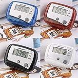 Hehilark - Mini contapassi Digitale LCD Leggero per Corsa, Jogging, Passi, Distanza