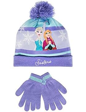 Disney Frozen - Il regno di ghiaccio - Set di cappelli e guanti del ragazze - Frozen