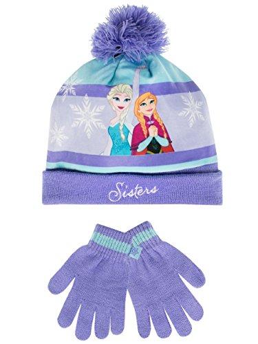 Disney frozen - il regno di ghiaccio - set di cappelli e guanti del ragazze - frozen - 8 - 10 anni