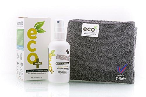 Ecomoist Natürliche Tastatur und Maus Reiniger 100Ml Am besten für Tastaturen Mäuse Pads Joysticks Spielkonsolen Made in England Eco-Friendly