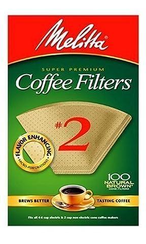 Melitta 622752100graines # 2Marron naturel Cône filtres à café 1