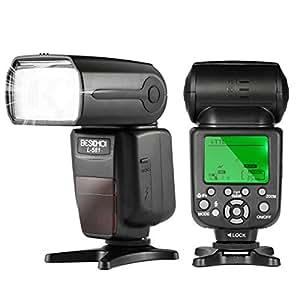 Beschoi L581 Flash Appareil Photo, Flash Speedlite Maître Esclave i-TTL Guide Numéro 58 HSS(Synchronisation de Haute Vitesse) 1/8000 Seconde pour Appareil Photo Nikon