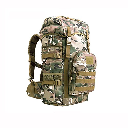 HQ Men And Women Backpacks Outdoor Sports Bag Mountaineering Bag Laptop Bag Travel With Velcro Hiking Camping 50L ( Color : 3 )