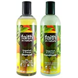 Faith In Nature Grapefruit & Orange Shampoo 400ml & Conditioner 400ml Duo