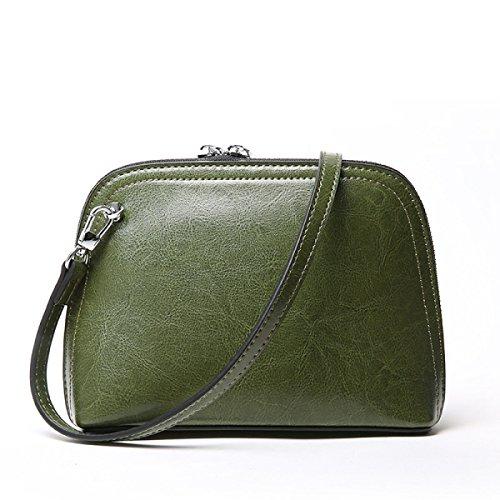ZPFME Womens Handtasche Mini Sommer Handtaschen Einfach Retro Wachs Mädchen Party Retro Damen Mode Messenger Bag Green