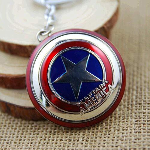 VAWAA New Hot Marvel Super Hero Captain America Pendant Key Ring Key Holder Metal Avengers Cosplay Keychain Jewelry