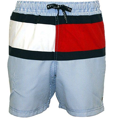 Tommy Hilfiger Itaca Banda Bandera Insignia Los Niños Swim Shorts Azul 8-10 Años
