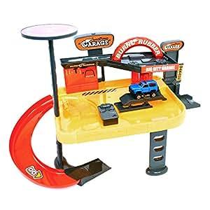Wdk Partner - A1400127 - Véhicule Miniature - Garage 2 Niveaux + 1 Voiture