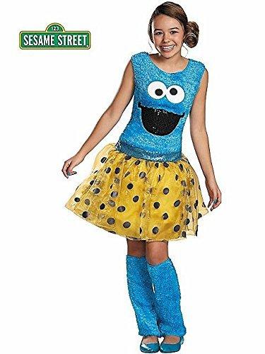 Disguise Sesame Street Cookie Tween Deluxe Costume,