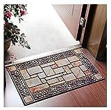 JXXDDQ Haushalt Gummimatte Fußmatte Anti-Rutsch-Teppich Eingangshalle Küche Bodenmatte (45 * 75...