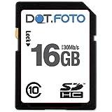 Dot.Foto - 16 Go Carte mémoire SDHC Classe 10 UHS-1 - 30Mo/sec pour appareils photo Kodak EasyShare Z/V [Pour la compatibilité voir la description]