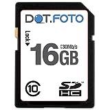 Dot.Foto - 16 Go Carte mémoire SDHC Classe 10 UHS-1 - 30Mo/sec pour appareils photo Vivitar Vivicam [Pour la compatibilité voir la description]