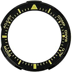 Casio Pro Trek Bisel Negro/Amarillo Bisel de parte carcasa para PRG de 30010500240