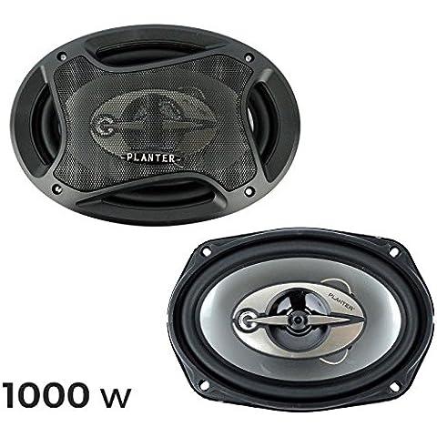 Altavoces coaxiales para coche de 1000w (3 vías, 91 dB) mws1