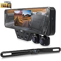 Pyle - Kit de grabación de vídeo para cámara de fotos HD 3 con espejo retrovisor para cámara frontal y trasera (PLCMDVR54)